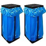2x Deuba Müllsackständer für Müllsäcke bis max. 60 LITER 3-fach höhenverstellbar - Müllsackhalter Abfallbehälter Müllbeutelhalter
