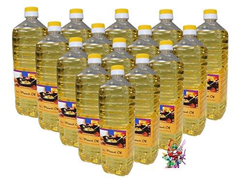 [ 15x 1000ml ] Erdnussöl / Arachide Olie / Peanut Oil + ein kleines Glückspüppchen - Holzpüppchen