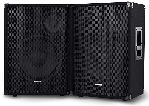 "Paar McGrey SL-12/3 3-Wege DJ PA Lautsprecher Box 30cm (12"") Subwoofer 600W (Passiv, 2-Wege System, Holzgehäuse)"