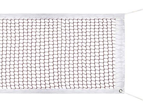HOGAR AMO Badminton Netz (Nylon Geflochtenes Netz in Rot) f¨¹r Indoor oder Outdoor Sports Garden Schulhof Hinterhof (610 x 76 cm) Ohne Gestell