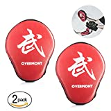 Overmont 1 Paar PU Handpratzen Boxing Pad Trainerpratzen für Kickboxen Thaiboxen Karate Boxen