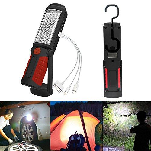 SunTop LED Arbeitsleuchte Mit Magnet Aufladbar Taschenlampe Werkstattlampe Portable Handlampe Campinglampe für Auto Reparatur, Werkstatt, Garage, Camping, Notbeleuchtung