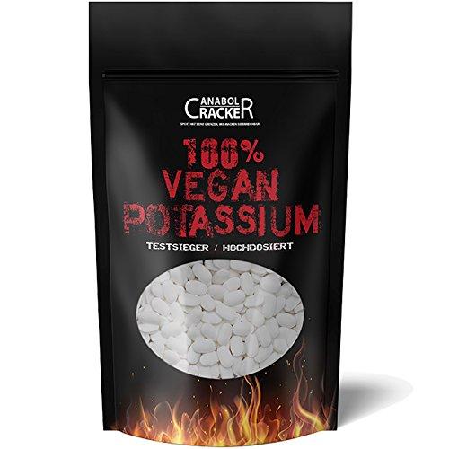 KALIUM - 100% Vegan Potassium Gluconat, 150 Tabletten, Hochdosiert 643mg / Tablette, Diät, Entschlackung, Entgiftung, Entwässerung