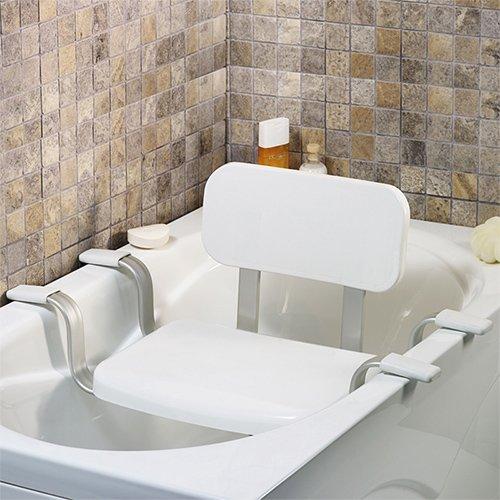 Wannensitz - Duschstuhl - Badewannenstuhl - Duschhocker mit Rückenlehne - Badsitze mit Modellauswahl (Badewannensitz mit Rückenlehne)