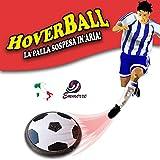 HOVERBALL EMMERRESHOP Indoor Fußball mit LED Lichtern, Hover Ball, Schwimmball, Air Fußball mit Schaumpolster für Kinder und Jugendliche,original