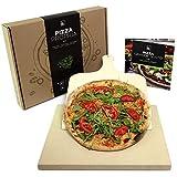 #benehacks Pizza Propria Pizzastein 3cm für Backofen & Grill - Set zum Backen inkl. Pizza-Rezeptbuch & Pizzaschaufel & Geschenkverpackung