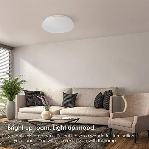 LED Deckenleuchte Badezimmer Dekoration Lampen Deckenlampe, TECKIN Deckenlampe LED Badlampe wohnung modern badezimmerlampe,schlafzimmer,Wohnzimmer,küchenlampe, kaltweiss, 24W, IP44, Ø 330mm