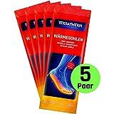 TerraTherm Wärmesohlen für Schuhe - 5 Paar L, Schuhwärmer Einlagen, 100% natürliche Wärme, Fußwärmer Sohlen als auch Wärmeeinlagen für Schuhe, für 8h warme Füße, Sohlenwärmer L