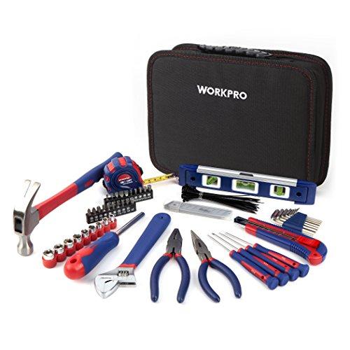 WORKPRO 100-tlg. Küchenschublade Werkzeugsatz, Mechaniker Werkzeugtasche Werkzeugmappe Dokumententasche