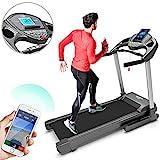 Bluefin Fitness Kick High-Speed Faltlaufband | Leise | 20 km/h + 7 PS + 15% Steigung | Gelenkschonende Technologie | Digitale Fitnesskonsole | App + Bluetooth-Lautsprecher + Herzfrequenzsensoren