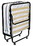 BFLYSHOP Gästebett klappbar 90X200 cm mit stabilem Metall-Rahmen Klappbett Faltbett bis 120 kg Raumsparbett incl. Matratze H. 11 cm, 90 x 200 cm