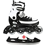 Cox Swain Sneak Kinder Inline Skates & Kinder Schlittschuh 2 in 1 - größenverstellbar ABEC5