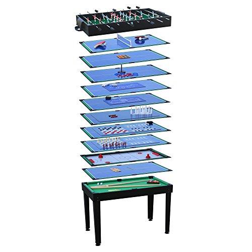 Spieltisch Multigame Spieletisch Billard Kicker Hockey 15in1 Tischfußball Schach Mikado