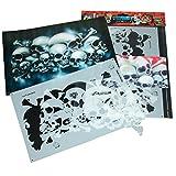 Perfekte Airbrush Schablonen Skulls leicht gemacht: FIELD OF SKULLS Vol. 01 ('THE HATEFUL 12'), Größe ca. A4, Single-/QuickStep EZ SkullMaker ArtShield