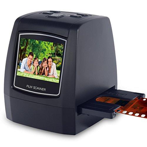 Rybozen Tragbarer hochauflösender 22MP All-In-1-Film- und Diascanner für Super-8-Filme, 35-mm-Dias und -Negative, 110 und 126 Film-zu-Digital-Konverter