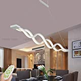 Pendelleuchte Dimmbar LED Esstisch Esszimmerlampe Moderne Kreative Designer Lüster Höhenverstellbar Metall Welle Decken-leuchte Jugendzimmer Dekorative Hängeleuchte Wohnzimmer Büro Bad Lampe (2 Welle)