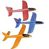 XINXUN Wurfgleiter Segelflugzeug Glider Kinder Flugzeug Spielzeug Flugzeugmodell Modell Schaum Flugzeug Kinder 3 Stück