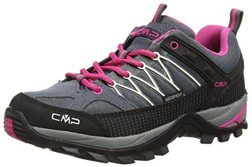 CMP Rigel 3Q54456 Damen Low Trekking Schuhe WP, Grau (Grey-Fuxia-Ice 103Q), 41 EU
