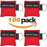 Cpr Masken 20 Stücke /100 Stücke CPR Maske schlüsselanhänger RESPI-Key Beatmungsmaske (rot, schwarz, blau)