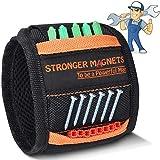 Bestes Männer Geschenke Magnetisches Armband, Magnetischer Werkzeuggürtel mit 10 Super Starken Magneten, Handgelenk-Werkzeughalter für Halteschrauben, Bestes Geschenk für Männer, Papa, Ehemann