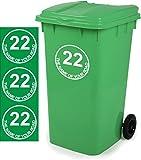 Mülltonnen-Aufkleber D4, personalisierbar mit Adresse, 18x18cm, 3 Stück