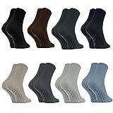 8 Paar Anti-Rutsch Socken ohne Gummibund für Geschwollene Füße, Stoppersocken ABS System Für Diabetiker und Krampfader, Größen 39-41 Classic, Bequem und Zart, Zertifikat Öko-Tex, made in Europa