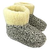 Warme Hausschuhe Hüttenschuhe aus Schafwolle Leo Gr. 46