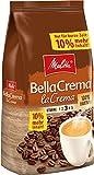 Melitta Ganze Kaffeebohnen, 100% Arabica, vollmundig und ausgewogen, mittlerer Röstgrad, Stärke 3, BellaCrema la Crema, 1100g