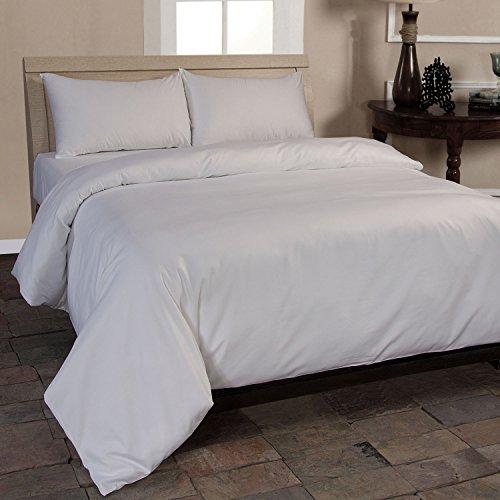 Homescapes 2-teiliges Bettwäsche-Set - 100% Bio-Baumwolle, Fadendichte 400 Perkal - Bettbezug 155 x 220 cm mit Kissenbezug 80 x 80 cm - weiß