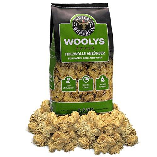 Ofenanzünder / Kaminanzünder hochwertig, lange Brenndauer I Aus ökologischer Holzwolle und Wachs I Anzünder geeignet für Kamin, Ofen und Grill I 2,5 kg