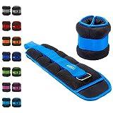 Umi. Essentials Gewichtsmanschetten für Fuß-/Handgelenk mit verstellbarem Befestigungsband (3,6kg, Himmelblau)