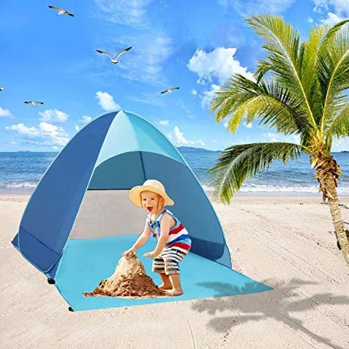 Homened Bfull Strandmuschel, Extra Light Automatisches Strandzelt mit UV-Schutz, Familien Portable Beach Outdoor Tragbar Wurfzelt