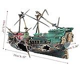 Ari_Mao Aquarium-Schiffbruch gebrochenes Schiffs-Verzierung für Aquarium-Landschaftsdekoration