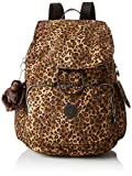 Kipling Damen City Pack Rucksack, Mehrfarbig (Mixed Cheetah B), 32x37x18.5 cm