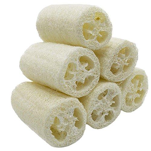 NATURE 6 Pack Luffa Luffa Spa Peeling Wäscher Beste Luffa Body Wash Schwamm entfernen Dead Skin Seife Multi-Funktion (ca. 4')