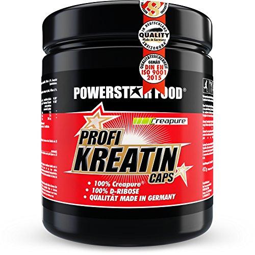 Kreatin Monohydrat hochdosiert - 500 Kapseln - 100% reinstes CREAPURE plus D-Ribose für direkte Kraftsteigerung, mehr Maximalkraft, erhöhtes Muskelwachstum & deutlich mehr Ausdauer - Made in Germany