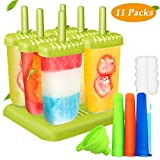 Joylink Eisformen, 6 Stück Eisformen Set BPA Frei Eisformen Popsicle Formen Set