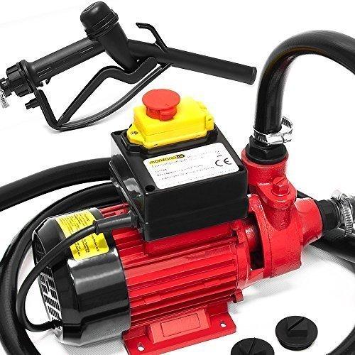 Monzana Dieselpumpe Ölabsaugpumpe Heizöl  600 W  40L/Min - Ölpumpe Kraftstoffpumpe Zapfsäule Öl Diesel