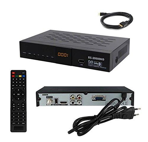 Echosat 20500HD Digitaler Satelliten-Receiver HDTV 1080p, DVB-S2, HDMI + RCA, PVR-Ready, Mediaplayer, USB 2.0 - für Freie Kanal Astra, Hotbird, Nilesat, Türksat vorprogrammiert