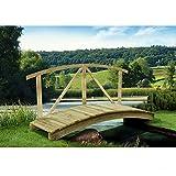 Gartenteichbrücke mit Handlauf von Gartenpirat