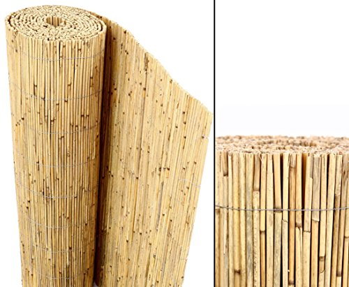 Schilfrohrmatten Premium 'Beach', 180 hoch x 600cm breit, ein Produkt von bambus-discount - Sichtschutz Matten Windschutzmatten