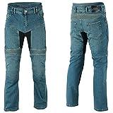 BOSmoto Motorradhose, Jeans Kevlar, Aramid Mit Protektoren Herren (Cargo Schwarz W36)