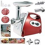 Elektrischer Fleischwolf, YUMUN Profi Wurstmaschine Set, Multifunktions Küchenmaschine Fleisch-rot