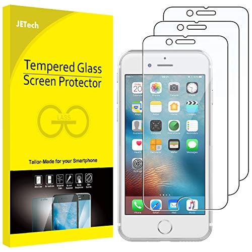 JETech 3 Stück Schutzfolie für iPhone 6, iPhone 6s, iPhone 7, und iPhone 8, Gehärtetem Glas panzerglas Displayschutzfolie