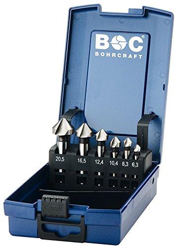 Bohrcraft Kegelsenker Set HSS-G in ABS-Box KS6-K 6-teilig, 6 Stück, Durchmesser 6,3-20,5 mm, 17001330006