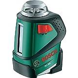 Bosch Linienlaser PLL 360 Set (Stativ, Halterung, 4x AA-Batterien, Schutzasche, Arbeitsbereich 20 m, Messgenauigkeit ± 0,4 mm/m)