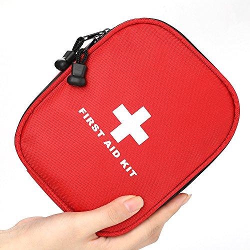 Erste Hilfe Set 143-teilig mit medizinischen Notfall (Iodophor Tupfer, CPR-Maske und Schere) und Überlebensanlage für Anto,Outdoor, Zuhause