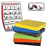 POWRX Balance Pad/Sitzkissen/Kissen Yoga Pilates (Gelb)