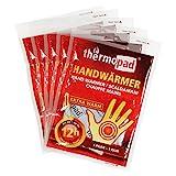 Thermopad Handwärmer | kuschlig weiches Wärmekissen | 12 Stunden wohltuende Wärme von 55°C |  angenehme Taschenwärmer | 5er Pack