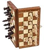 SQUARE GAME Schach Schachspiel - MAGNETISCHE Basic - 26,5 x 26,5 cm - Schachfiguren & Schachbrett aus Holz